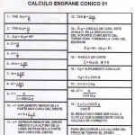 CALCULO ENGRANE CONICO