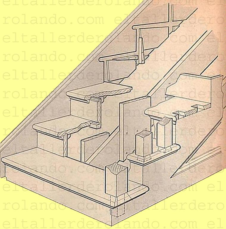 Como construir una escalera materiales de construcci n for Construir escalera de madera
